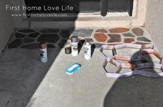 #DIY #Foyer    Clever way to redo a concrete porch