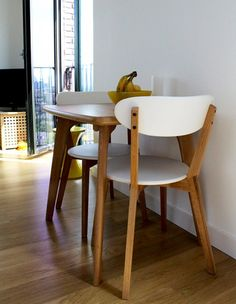 Scandi style with our Fjord Dining set in Victorias' London home on Unboxed | made.com/unboxed