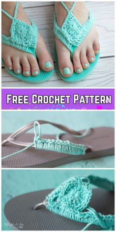 Adult Flip Flop Sandals Crochet Patterns Free & Paid - Crochet Adult Flip Flop Sandals Crochet Free Pattern You are in the right place about anello mini H - Knit Slippers Free Pattern, Crochet Slipper Pattern, Flip Flops Diy, Diy Crochet Flip Flops, Crochet Diy, Crochet Slippers, Diy Crochet Shoes, Crochet Ideas, Baby Shoes