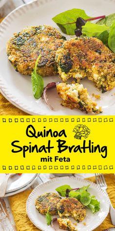 Vegetarisch, schnell zubereitet und trotzdem so gut: Unser Quinoa Spinat Bratling gefüllt mit Fetakäse ist ein echtes Highlight. Bereite das Gericht doch mal für deine Gäste zu und freue dich über die vielen Komplimente, die du bekommen wirst.