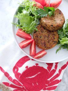 Hamburguesas vegetales de #mijo #alubiasnegras y #boniato