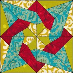 (7) Name: 'Quilting : Tangled Star Quilt Block Pattern