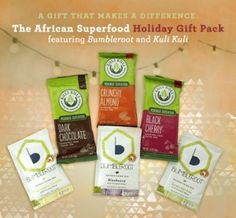 Gifts that make a difference. African Superfood Holiday Gift Pack. $15 #giveback #giftsthatmakeadifference #baobab #moringa