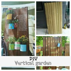 outdoor #vertical #garden with #upcycled cans