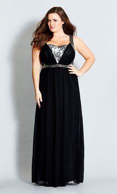 59b828e055a City Chic - LACE TRIMMED LOVE MAXI DRESS - Women s Plus Size Fashion Curvy  Dress