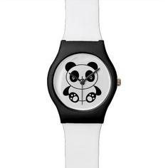 Shop Cute Panda Watch created by Imagology. Cartoon Panda, Cute Cartoon, Panda Watch, Cute Panda, Wrist Watches, Pandas, Watches, Funny Cartoons