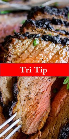 Your family's favorite food and drink ! How to Cook Tri Tip (Grilled or Oven-Roasted) - Cooktoday Recipes Steak Recipes Stove, Tri Tip Steak Recipes, Sirloin Steak Recipes, Roast Recipes, Cooking Recipes, Quick Easy Meals, Easy Dinner Recipes, Yummy Recipes, Dinner Ideas