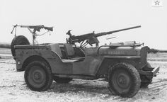 .50 cal mounted to the dash, and an unusual mount for a BAR.