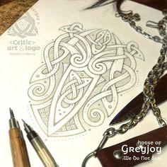 "Game of Thrones 🐙 Kraken, house of Greyjoy ""What Is Dead May Never Die"" - Celtic variations on the theme of coats of arms from the Game of Thrones (pencil sketch) Кракен ""дом Грейджой"" - вариации на тему гербов из Игры престолов Kraken Tattoo, Norse Tattoo, Celtic Tattoos, Viking Tattoos, Viking Designs, Celtic Knot Designs, Celtic Symbols, Celtic Art, Tattoo Grafik"