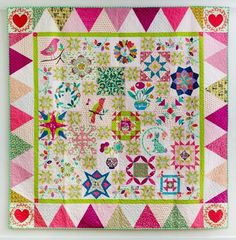 Sarah has two Block of the Months running. 2016 is now finished but you can now buy the new book and videos. Or you can sign up to Sarah's new 2017 BOM commenci Sarah Fielke Quilts, Beach Themed Quilts, Sew Mama Sew, Quilt Border, Sampler Quilts, Hand Quilting, Quilting Tips, Block Of The Month, Foundation Paper Piecing