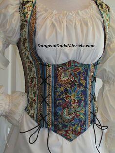 DDNJ Choose Fabric Renaissance Underbust Corset Style Bodice