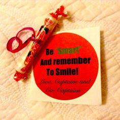Cheer Treats - Be Smart and remember to smile