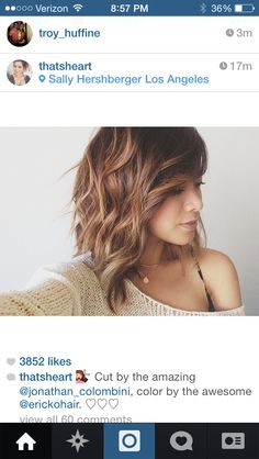 Love this cut...a little angled, some highlights.