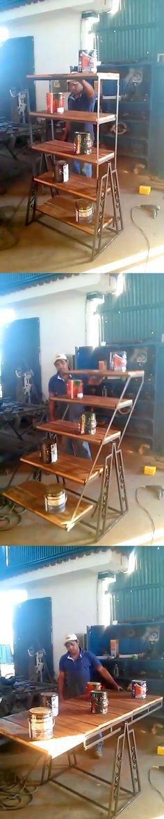Shelf transforming to table Полка, трансформирующаяся в стол