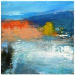 RED TIDE 11057, daily painter mixed media abstract waterscape Carol Nelson Fine Art, original painting by artist Carol Nelson | DailyPainter...