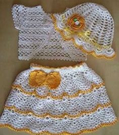 Crochet Designs Free: BEAUTIFUL. TWO MODELS IN CROCHET DRESS FOR CHILDREN WITH GRAPHIC. I LOVED. SHARED