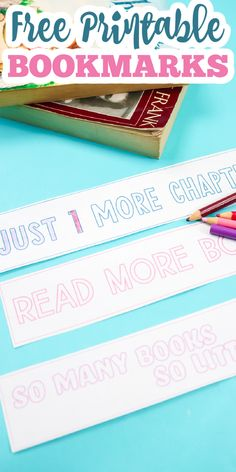 Grab these printable bookmarks and use them to mark the pages in your books! A great way to share the love of reading with coloring bookmarks kids of all ages will love! #printable #freeprintable #bookmarks Free Printable Bookmarks, Bookmarks Kids, Free Printables, Share The Love, Read More, Coloring, Just For You, Crafting, Personalized Items