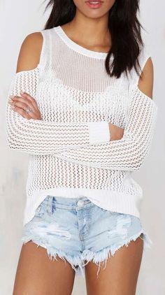 Cute, White Sweater