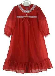 NEW Red Nylon Peignoir Set for Toddlers, Little Girls, and Big Girls $55.00