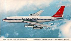 """retrospectivecivilaviation: """" An ad that says it all. Republic Airlines, Jet Airlines, Commercial Plane, Commercial Aircraft, Boeing 720, Northwest Airlines, F-14 Tomcat, Air Space, Aviation Art"""