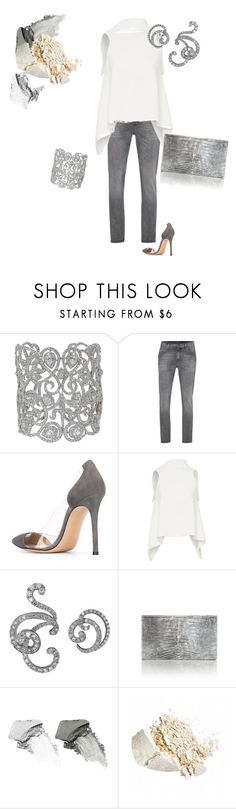 """""""Untitled #298"""" by grownupfashionfun ❤ liked on Polyvore featuring 7 For All Mankind, Gianvito Rossi, Maticevski, Plukka, Nancy Gonzalez and NARS Cosmetics"""