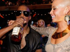 Kanye West a Amber Rose - Hennessy  www.alkohall.cz