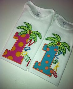 Hey, I found this really awesome Etsy listing at https://www.etsy.com/listing/175033673/chicka-boom-birthday-palm-twins-number