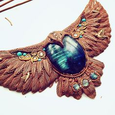 """""""Garuda, the king of all birds"""" is now baking first time :) #polymerclay, #jewelry"""