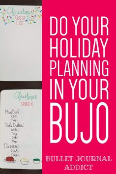 How To Plan For The Holidays In Your Bullet Journal - Bullet Journal Ideas and Spreads For Holiday Planning - Bullet Journal Holiday Planning Guide Bullet Journal Index, Bullet Journal Christmas, Bullet Journal Quotes, Bullet Journal Tracker, Bullet Journal Layout, Bullet Journal Inspiration, Holiday Stress, Christmas Holiday, Christmas Ideas