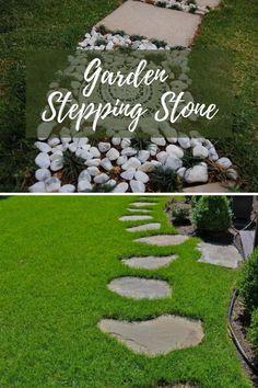 New DIY Garden Stepping Ideas #gardensteppingstones Garden Steps, Easy Garden, Amazing Gardens, Beautiful Gardens, Garden Stepping Stones, Stone Path, Easy Diy, Pretty, Outdoor Decor
