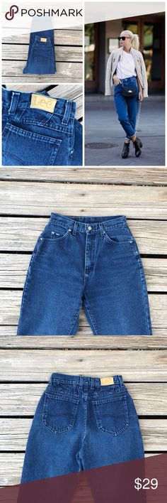 """Vintage Lee Denim Mom Jeans This listing is for a classic pair of Lee high waisted denim jeans. Medium blue wash. 8/10 condition. Great vintage condition ! Tag states size 8 short, But ABSOLUTELY make sure to refer to ALL measurements before purchasing !  Waist 12.5""""  Rise 12""""  Thigh 11.5""""  Hip 20""""  Inseam 27""""  Leg Opening 6""""  **model is for styling ideas only - she is not wearing the same jeans listed   Photographs are part of the description, please look over them closely !  Now accepting…"""