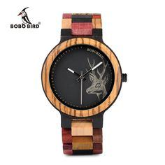 05742ed24e5 BOBO BIRD P14-2 Mixed Color Deer Wood Watch Army Watches