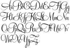 Cursive lettering