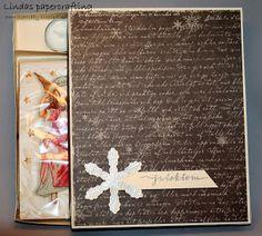Lindas papercrafting: Gaveesker med lys og servietter