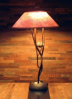 Hand Forged Iron Bliss Table Lamp   |    Design by Luis Marquez    |     Handcrafted, Solana Beach #handcrafted #handcraftedhomedecor