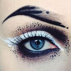 Makeup & Hair Ideas: Abstract Splashes Les maquillages créatifs de lartiste Ida Ekman