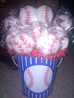 Baseball+Lollipop+Bouquet