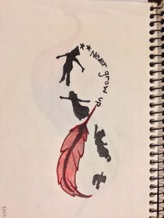 I am going to get my drawing tattood. the two stars will be dermals. Peter Pan Infinity, Never Grow up.