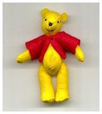 Felt Winnie the pooh pattern