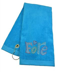 Crystal Fore Turquoise Terry Cloth Golf Towel by Navika.  Buy it @ ReadyGolf.com