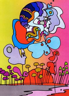 """Land of Yellow"" / Peter Max"