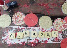 Guirlande rouge et or pour un Noël Glamour!