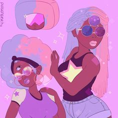 // I'm excited to see a cosplay with that gorgeous cotton candy hair. // Garnet Steven universe