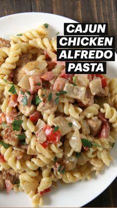 Easy Pasta Dinner Recipes, Pasta Recipes, Chicken Recipes, Cooking Recipes, Healthy Recipes, Great Recipes, Favorite Recipes, Cajun Recipes, How To Cook Pasta