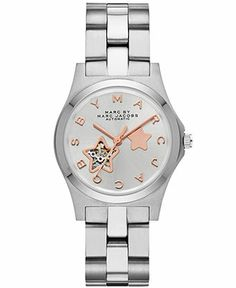 Marc by Marc Jacobs Watch, Women's Automatic Henry Stainless Steel Bracelet 32mm MBM9711 - Marc by Marc Jacobs - Jewelry & Watches - Macy's