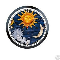 Celestial Sun and Moon Wall Clock Wall clocks Clocks and Moon