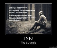 INFJs who are developed and growth oriented don't retreat to coldness. They've taken the harmony process in order to understand and create healthy boundaries.