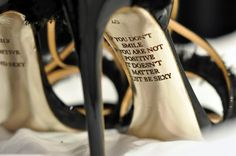 """Arfango Firenze heels.  """"If you  don't smile, If you are not positive, it doesn't matter, just be sexy"""""""
