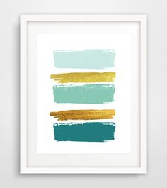 Modern decor paint brushes mid century modern wall by Ikonolexi