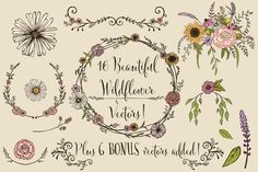 Wildflower Wedding Invitation Suite by Knotted Design on Creative Market